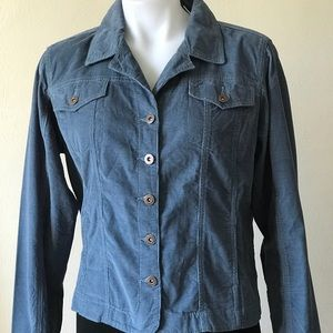 George and Martha Corduroy Cropped Button Jacket